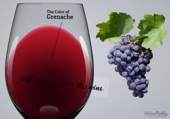 grenache-wine-and-grenache-grapes